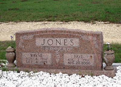 JONES, WAYNE and FAYE Senterfitt Cemetery, Lometa, Texas