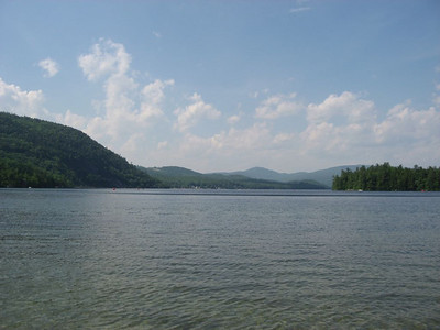 Craig competed in the Mooseman Half-Ironman Triathlon. This is Lake Newfound, NH, the location of the swim