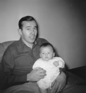 Jack Crossin and Daughter Ellen Crossin Shedletsky, about 1955