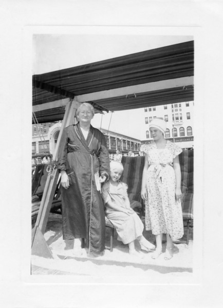 Mary Ellen Ferry Gallagher with her granddaughters, Katherine Moran Maheady and Mary Therese Moran Crossin in Atlantic City, New Jersey