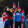 <b>4 Feb 2012</b> Group shot! Me and Finn, Joel, Kristy's left ski, Kristy, Kristy's right ski