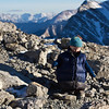 <b>5 Feb 2012</b> Wandering around the summit of Ha Ling wearing a down vest