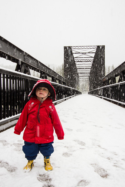 <b>9 June 2012</b> Out playing in the snow
