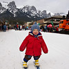 <b>12 Feb 2012</b> Testing his skis on snow for the first time - skiing the main street during the Winter Carnival