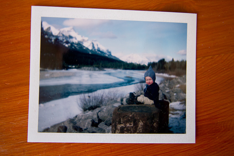 <b>1 Feb 2012</b> Playing with my Polaroid camera - my first properly exposed, vaguely in focus, non-chemical stained photo!