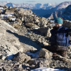 <b>5 Feb 2012</b> Crazed baby wearing down vest tries to wander around the summit
