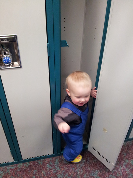 <b>March 2012</b> Playing in the Norquay ski lockers