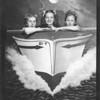 Donna Cunningham, Barbara, LaVerne Duncan<br /> Oceanside photo..on Pier., Venice, 1939