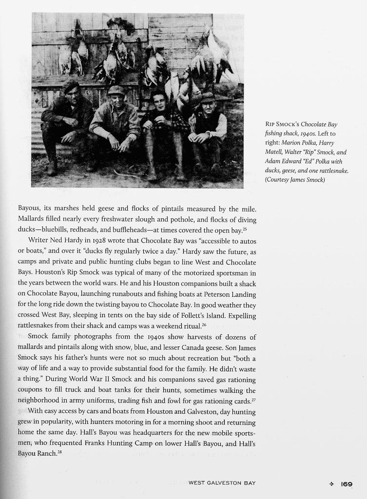 Rip Smock In Texas Waterfowl Book