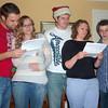 Ryan & Natalee Olson, Andrea & Garret Behling, Nathan Morris performing a humorous reading.
