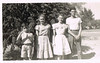 1947 - Taken in front of Gam Puddy's house. Chinaberry tree. Robert, Barbara, Betty, Bill