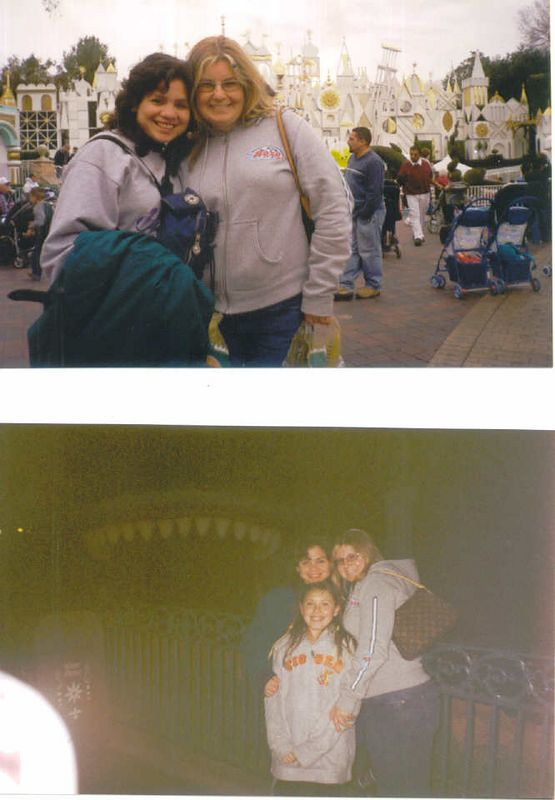 A day at Disneyland with my wife Rozy (above right) and first cousin Maria, and second cousin Jessica (Kiki)...