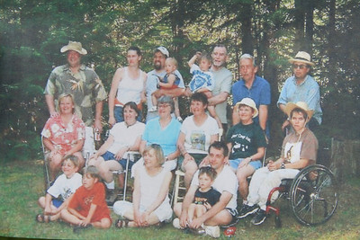 Picture of a picture that Grandma had of Cuz'n Camp out.