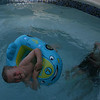 Blake riding in Coles floatie :)