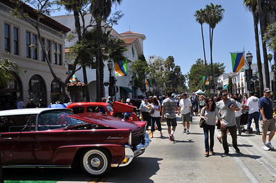 Wheels and Waves Classic Car & Hot Rod Show, downtown Santa Barbara