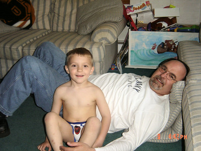 Ty_and_Chuck_settle_in_after_Ty's_bath