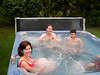 Renee, Liz and Jim in the hot tub.  Marty is in the corner out of camera range.