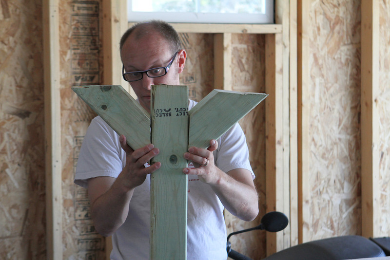 Mike's Mother's Day project is to make progress on the Little Free Library House - a Wisconsin based initiative which places honor based free loaning libraries on the front lawn of neighborhood homes for use by anyone.