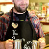 "This is Ben Wineke the talented and friendly Barista at The Sow's Ear.  The Sow's Ear <a href=""http://www.kentsweitzerphotography.com/Events/The-Sows-Ear-Coffee-Tasting/27745451_SH7wzT"">http://www.kentsweitzerphotography.com/Events/The-Sows-Ear-Coffee-Tasting/27745451_SH7wzT</a>  was detailed in an early Web Album during a ""Knit and Sip"" event."