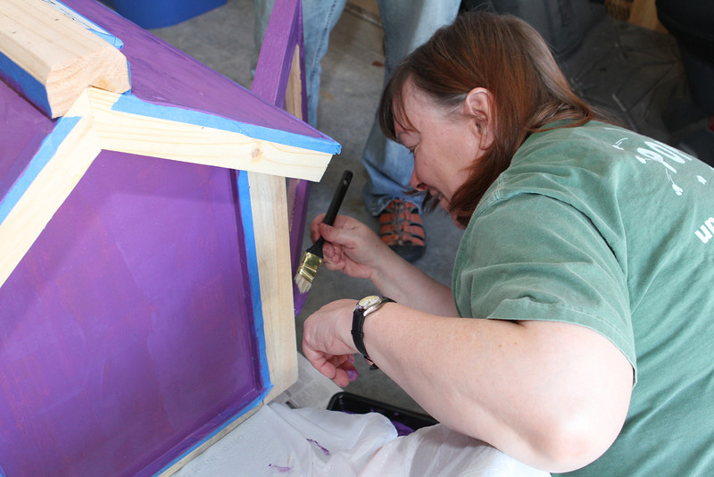 Pam is a detailed artist handling the trim with ease.