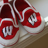Ruth's Bucky Badger UW shoes are on the window sill.