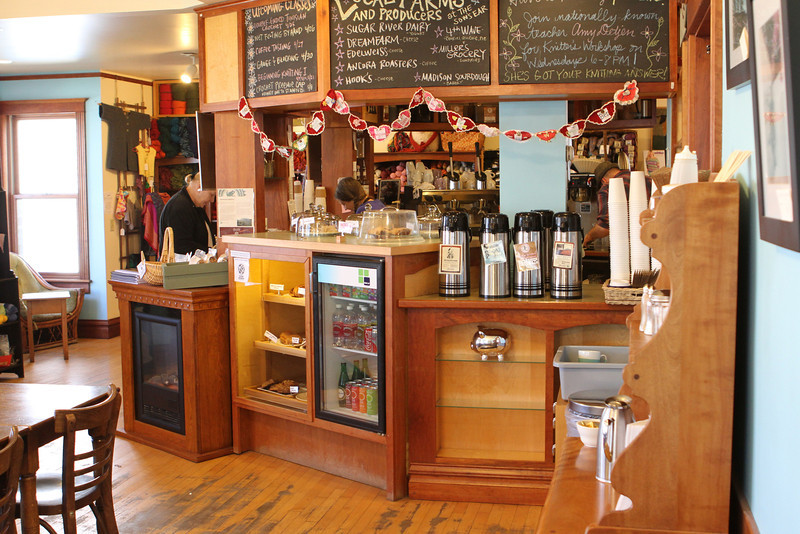 Interior view of the order counter at The Sow's Ear, Verona, Wisconsin.