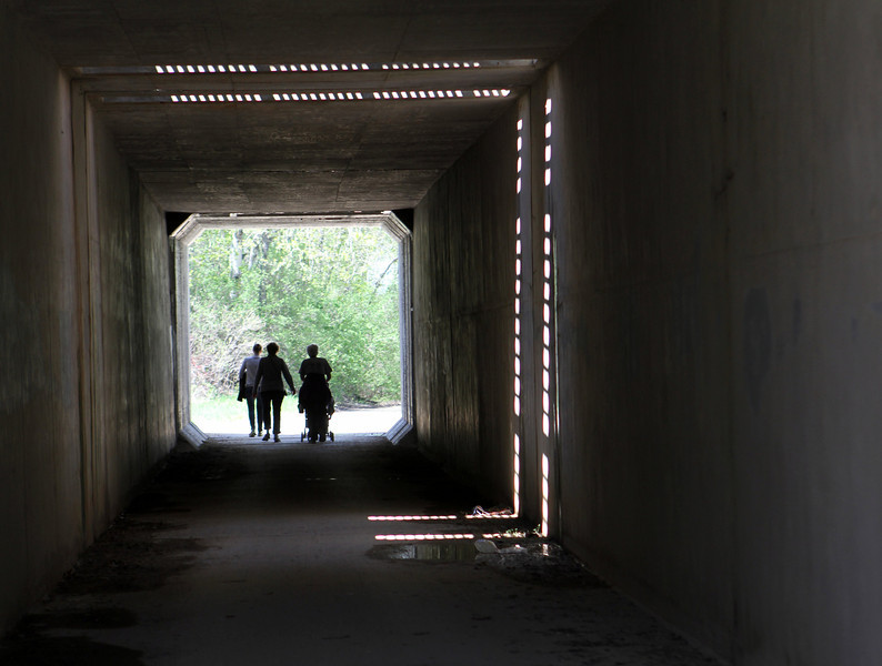 Tunnels for passing under busy highways make the trails much safer for all ages.