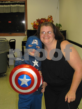Ignatius Kirby 'Captain America' and mom, Jobina Kirby at the 'Night with My Hero' held at the Citizens Central.