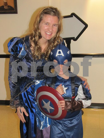 Amanda Pratt with 'Captain America' Evan Pratt at the 'Night with My Hero' held at Citizens Central.