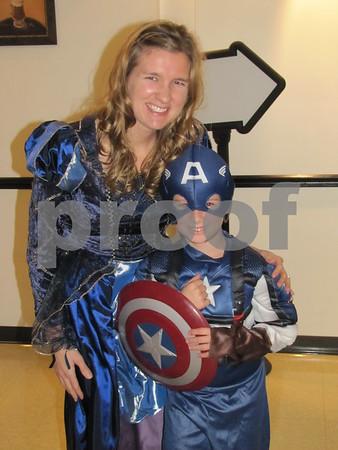 Amanda Pratt with 'Captain America' Evan Pratt at the 'Night with My Hero' held at Citizens Central.