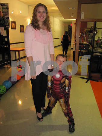 Lisa Moore with 'Ironman' Jacob Moore at the 'Night with My Hero' held at Citizens Central.