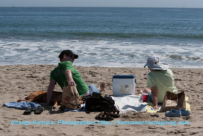 Cory made the picnic lunch, Maria laid about on the sand, and Janet enjoyed the environs.