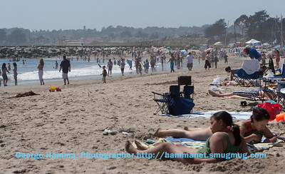 There were lots of people at Twin Lakes beach, but there was still plenty of room.