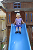 Leah on new slide set at home in Evanston