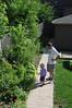 Back yard of Evanston home