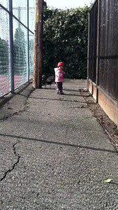 Walking Kuro.. or is Kuro walking Natalie?