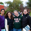 We run into Meg and saw the Wash U women race.  They looked very impressive going by and we found out later that they won.