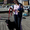 Ghazala holds on to Shadow while we went for a row and Anisa took pictures.