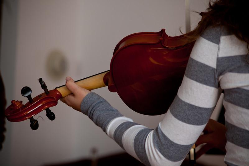Viola lesson.