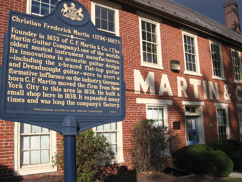 Old Martin Factory with sign