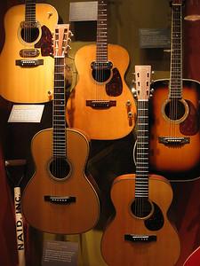 Historic Guitar Display at Martin Guitars