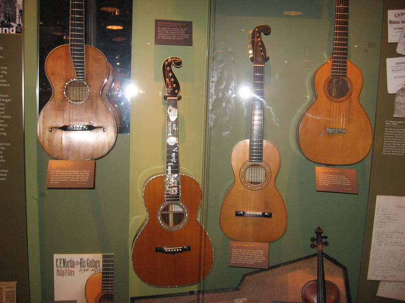 Historic Guitar Display at Martin Guitars