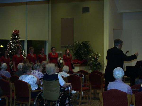 Varsity Singers (Lydia & Seth) at Souderton Mennonite Homes, Christmas Season