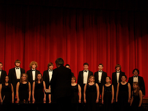 QCHS Varsity Singers, Feb. '09 (Lydia & Seth)