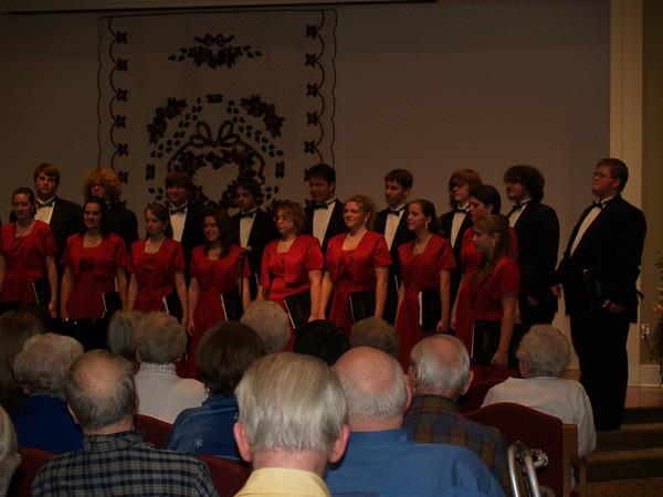 Varsity Singers (Lydia & Seth) at Souderton Mennonite Homes, Christmas Season '08