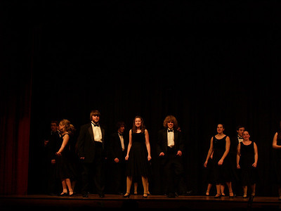 Seth dancing with Varsity Singers