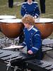 Seth playing marimba; marching band '07 (Photo by Rob)