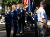 QCSHS Mallet section carrying Flags