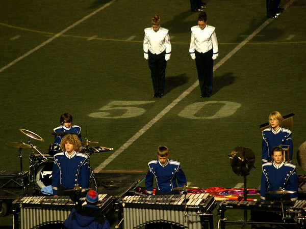 The Pit & Drum Majors - QCHS Panther Marching Band at USSBA Championships, J. Birney Crum Stadium, Allentown