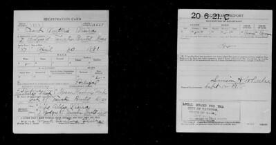 Frank V Vieira draft Registration DOB  Apr. 30, 1881